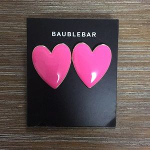 NWT Baublebar Large Heart Earrings